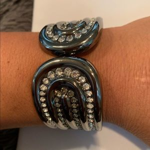 Express Jewelry Bracelet with Black Crystals